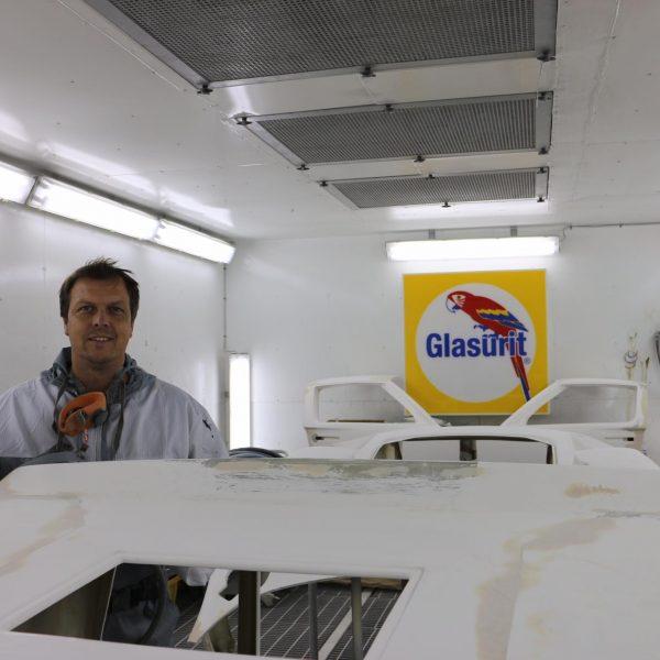 Glasfiber og kulfiber på båd